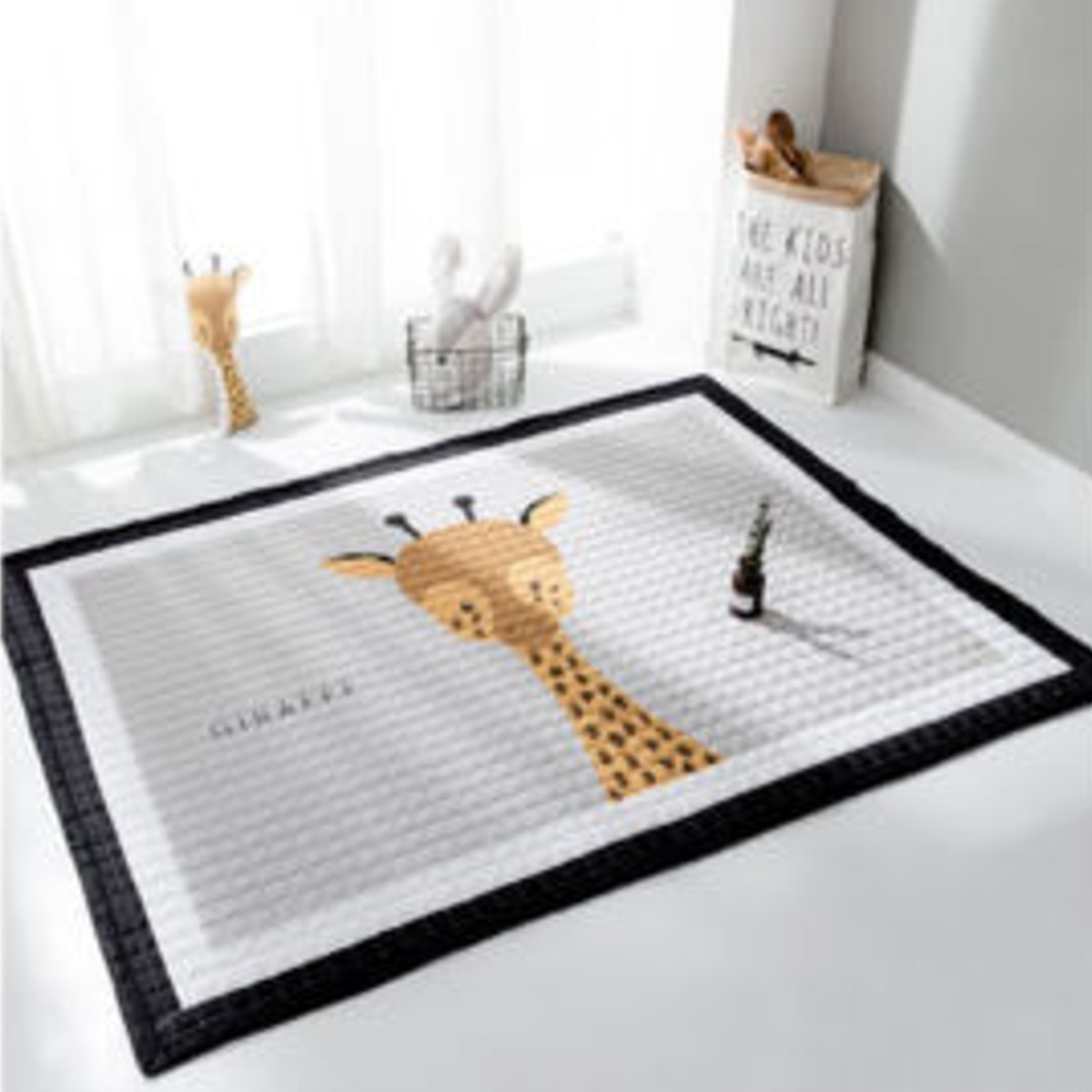 Anti-slip Living-Room-Mat 15mm Thicken Baby Play Mat Game-Rug Carpet Play-Mat Toys Storage Organizer Cartoon Animal Large 195cm
