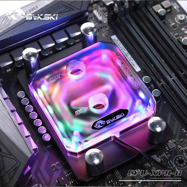 Bykski Cpu Water Blok Gebruik Voor Amd RYZEN3000 AM3/AM3 +/AM4 X570 Moederbord Socket Rgb Ondersteuning 5V 3PIN Gnd Header Moederbord