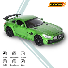 HOBEKARS 1:32 Diecast Model Car Toys Vehicles GTR Simulation Metal Alloy Model Car Toy With Pull Back Sound Light For Collection 1 32 toy car simulation alloy catapult chariot three in one children sound and light pull back toy racing car ornaments model