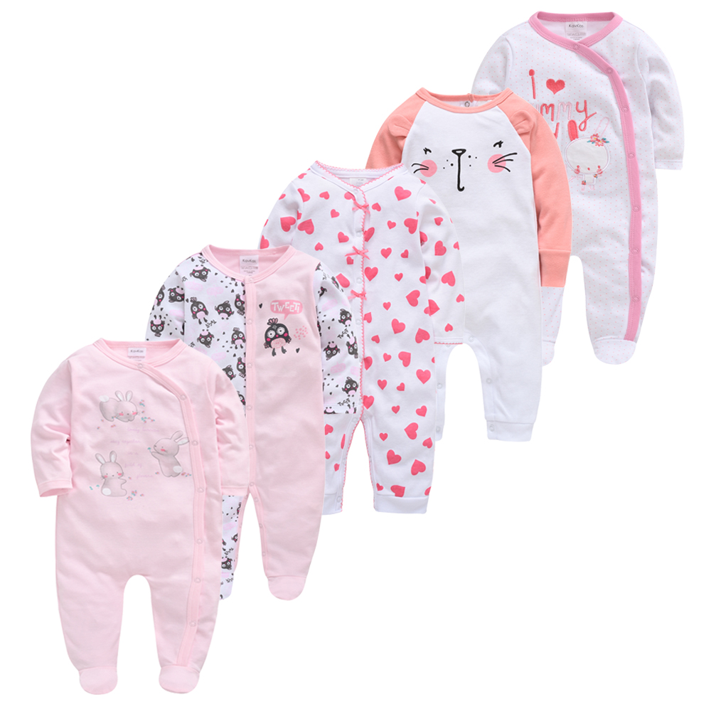5pcs Baby Girl Boy Pijamas Bebe Fille Cotton Breathable Soft Ropa Bebe Newborn Sleepers Baby Pjiamas