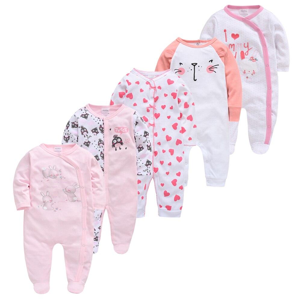 5pcs Baby Girl Boy Pijamas Bebe Fille Cotton Breathable Soft Ropa Bebe Newborn Sleepers Baby Pjiamas