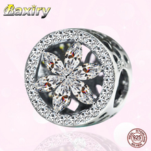 New Style Openwork CZ Charm Beads 925 Sterling Silver Fit Pandora 925 Original Charms Bracelet Fine Bead DIY Jewelry Making 2020 925 sterling silver bead shine family heritage dangle charm beads fit pandora charms silver 925 original bracelet diy jewelry