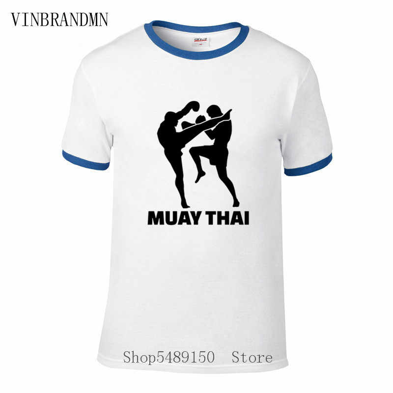 Vintage Muay Thai koszulki Kickboxing sztuki walki walki sport T Shirt mężczyźni Fighter fani prezenty Tshirt Karate Kung Fu bluzki retro
