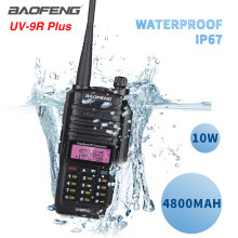 10W $TERM impacto Baofeng UV-9R más Walkie Talkie impermeable UV9R doble banda portátil CB Ham radio 9rhp transceptor FM dos radio(China)