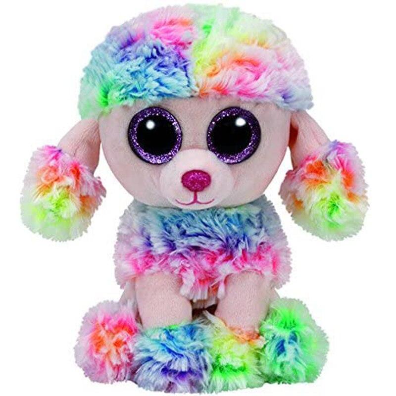 Ty Rainbow The Poodle peluche Animal juguetes muñeco de peluche regalo 15cm 1 ud. De 35-65CM, juguete para niños famoso, Kawaii Stitch, muñeca de felpa, juguetes de Anime Lilo y Stitch, lindos juguetes Stich para niños, regalo de cumpleaños