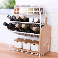 Estante de almacenamiento de hierro de 4 capas, estante de almacenaje para cocina, organizador de baño, cesta de almacenamiento en estantes multifunción para cosméticos y baño