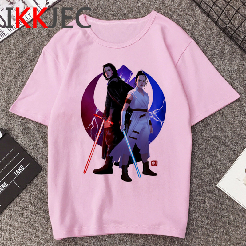 Star Wars Kylo Ren Cool Print T Shirt Men Funny Cartoon The Rise Of Skywalker T-shirt 90s Graphic Tshirt Hip Hop Top Tees Male
