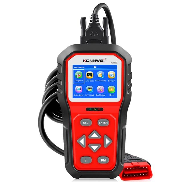 KONNWEI KW860 Automotive Scanner Tools OBD2 Scanner Diagnostic Tool Scanner Car Engine Code Reader OBD2 Full Mode Upgraded KW850
