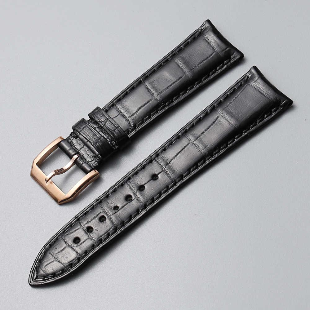 19 20 21 22mm timsah timsah derisi kordonlu saat IW Pilot C Portofino portekizce AQUATIMER saat kayışı bilek bilezik erkekler