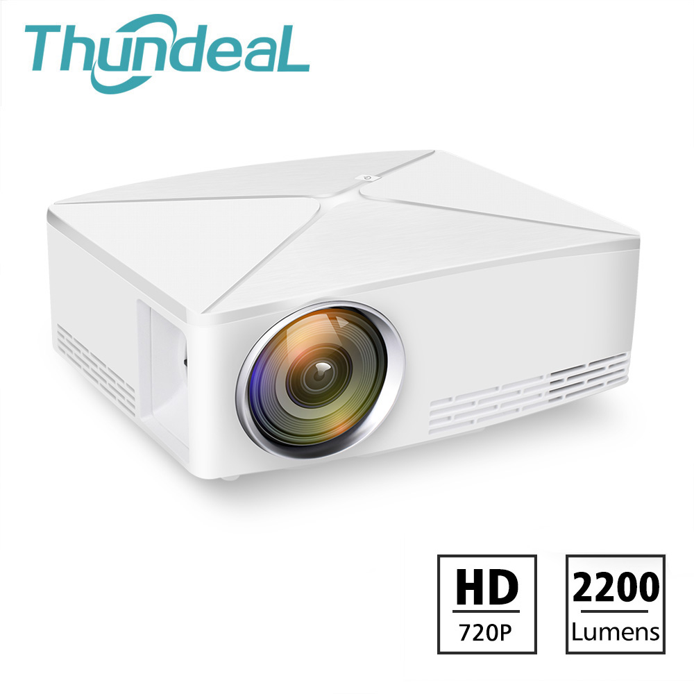 ThundeaL TD80 Mini LED Projector 1280x720 Portable HD HDMI Video C80 3D LCD C80 UP Android WiFi C80Up Beamer Home Cinema Проектор
