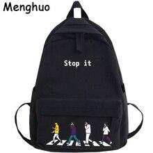 Güzel tarzı naylon kadın sırt çantası yüksek kaliteli su geçirmez naylon okul sırt çantası moda rahat kız Satchel omuzdan askili çanta Mochila