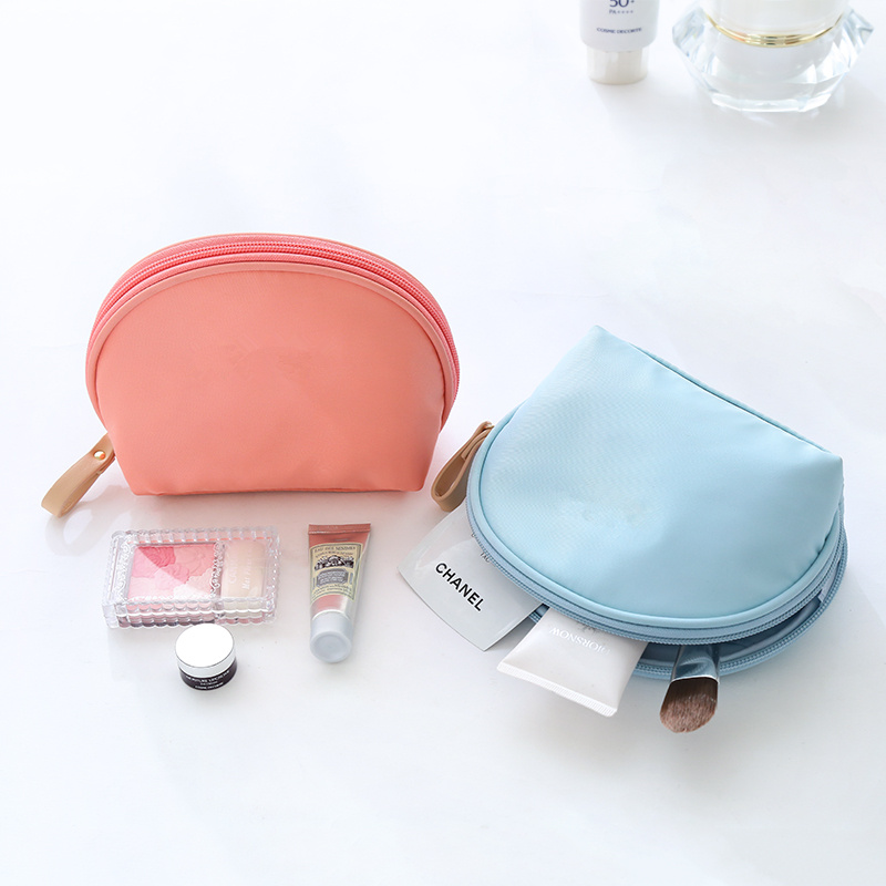 PURDORED 1 Pc Solid Shell Shape Cosmetic Bag Women  Makeup Bag Waterproof Travel Neceser Wash Bag Beauty Case Toiletry Bag