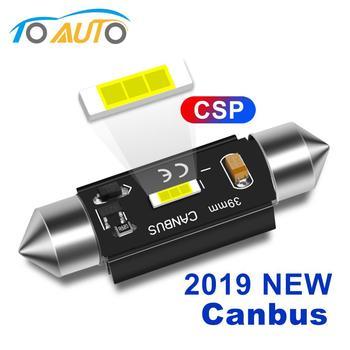 1pcs Festoon Lights C5W CSP Led Bulb Car Dome Light C10W Canbus Error Free Automobile 31mm 36mm 39mm 41mm Super Bright 6000K 12V