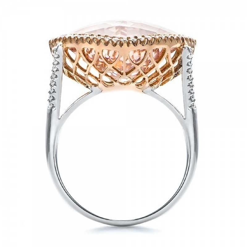 2019 Champagne carré pierre anneaux pour femmes fiançailles de mariage couleur argent Zircon Micro pavé princesse anneau bijoux DDR340