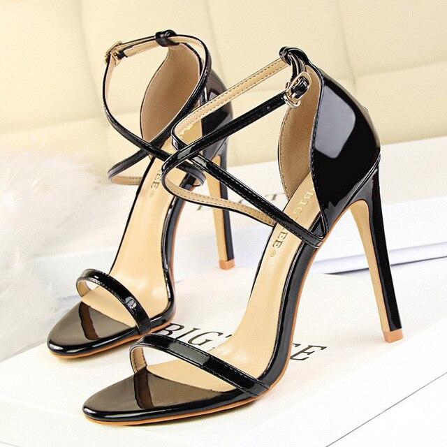 Buckle Strap High Heeled Sandals  3