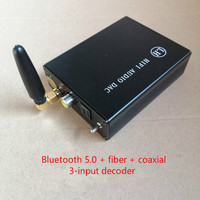 5 3 CSR8675 APTX HD Bluetooth 5.0  Fiber  Coaxial 3-Channel Input Decoder PCM5102A DAC Audio Decoding 8-15V DC (1)
