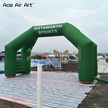 4 ноги свободно стоит угол АРКА воздушный шар, зеленый текст надувной старт линия арка на скидку