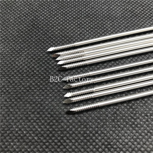Image 3 - 10pcs 1.0mm 4.0mm Nice Stainless steel partial threaded Kirschner wires Veterinary orthopedics Instruments Facial care tool