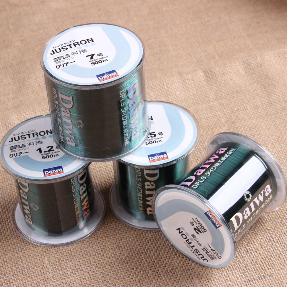 Original Daiwa Nylon Fishing Line Nylon Fishing Line 500M Monofilament Line Japan Material Fishline For Carp Fishing
