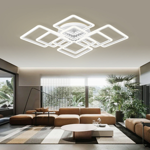 Image 3 - Modern LED ceiling lamp dimmable  remote control lamp bedroom living room ceiling lamp