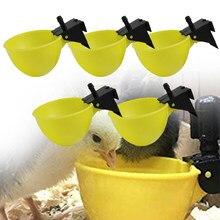 Cuencos de plástico para beber pollo con camiseta, 6mm, vasos bebederos, bebedero para pollos, codorniz, 5 uds.