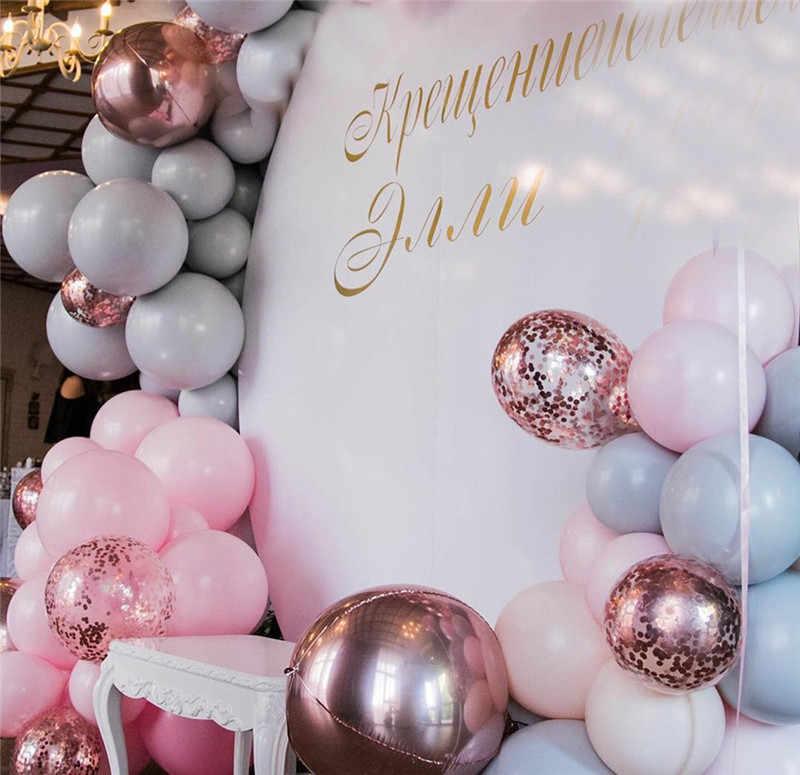 169 قطعة معكرون بالون جارلاند قوس عدة الباستيل الوردي رمادي ارتفع الذهب بالونات ورقية الزفاف عيد ميلاد الطفل دش ديكور الحفلات