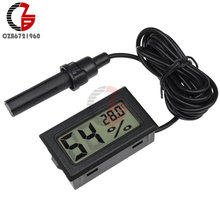 Mini LCD Digital Thermometer Hygrometer Indoor Outdoor Auto Temperatur Sensor Feuchtigkeit Meter Inkubator Aquarium Boden Detektor(China)