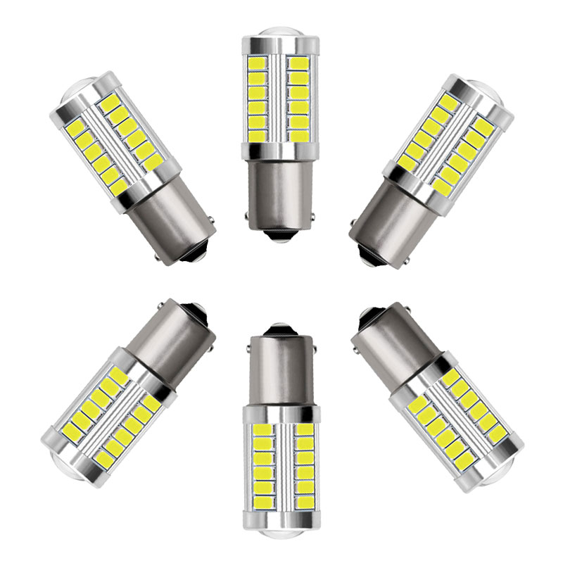 1Pcs 33LED 1156 1157 <font><b>7440</b></font> 7443 <font><b>T20</b></font> Car <font><b>LED</b></font> Bulb P21W P21/5W W21W W21/5W Auto Stop Light Tail Lamp Reverse Light image