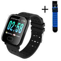 Reloj de pulsera inteligente A6 reloj inteligente pulsometro ritmo cardi Fitness Tracker mando a distancia pulsera inteligente impermeable.