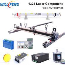 طقم ميكانيكي من ويل فنغ 1300x2500 مللي متر وحدة تحكم بالليزر 80 100 واط AWC708S ماكينة قطع ونقش بالليزر 1325 Co2