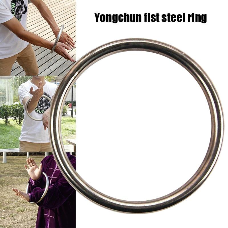 Wing Chun boxeo anillo de acero anillo de carga de acero chino Kung Fu Acero inoxidable brazo de entrenamiento anillo de acero KH889 Trajes chinos tradicionales traje chaqueta Wu Shu Tai Chi Shaolin Kung Fu Wing Chun camisa de manga larga