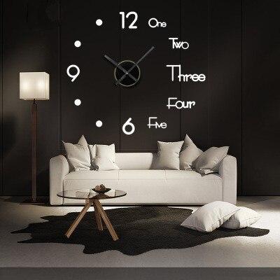 3D Diy Wall Sticker Clock