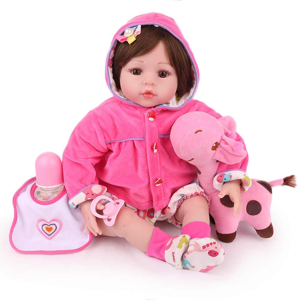 Kaydora 22 Polegada 55cm silicone reborn bebê bonecas lol vivo lifelike crianças brinquedo gril menina bebe boneca presente de aniversário girafa