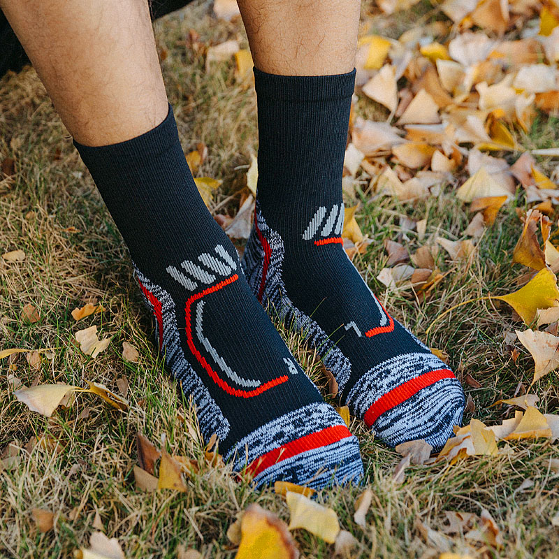 Professional Outdoor Hiking Socks Elite Sport Basketball Socks Anti Slip Cycling Socks Climbing Running Winter Thermal Sock