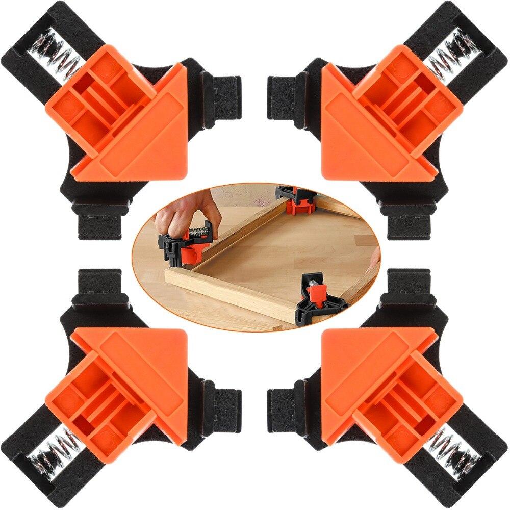 1 шт. с прямым углом 90 градусов зажим крепежные зажимы картинной рамки угловой зажим Деревообработка углу зажим позиционирования DIY инструм...
