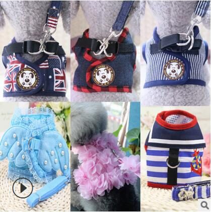 Dog Haulage Rope Package Chest And Back Cat Rope Small Dogs Teddy Vest Style Walk A Cat Useful Product Dog Anti-Break Free