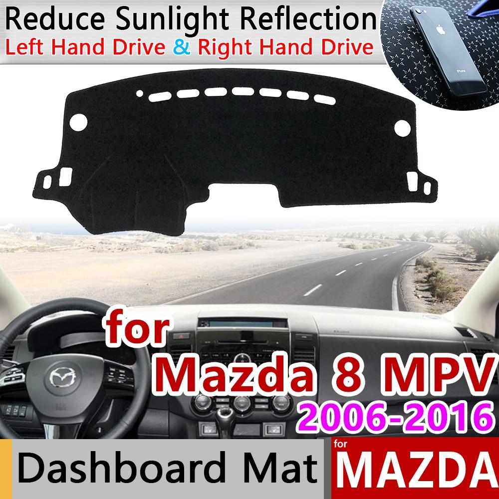 Autoly Car Dash Sun Cover Dashboard Mat Carpet Pad Black Fit for Mazda 6