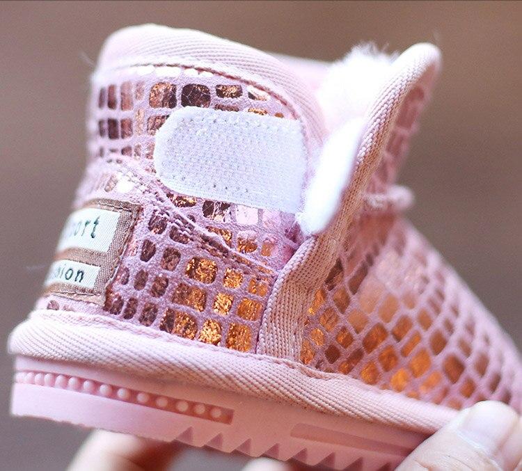 Sequins Non-Slip Soft Bottom Cotton Boots 25