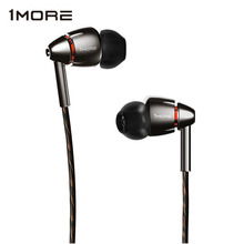 1MORE Quad Driver E1010 In Ear Earphone Earbuds with Apple iOS and Android Compatible Microphone and Remote (Titanium)