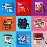 Custodia per auricolari 3D Dragon Chocolate per AirPods Pro Cute Chip Snack Bag Silicone morbido per Airpods 2 1 custodia scatola di ricarica protettiva