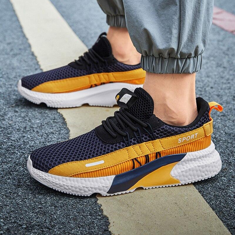 Hommes chaussures de loisir à la mode 2020 tendance hommes respirant marche baskets Tenis Masculino léger Zapatillas Deportivas Hombre   AliExpress