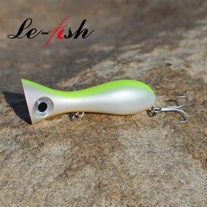 Le fish большая игровая приманка, 97 мм, 33 г, новинка, приманка для ловли Поппера, приманка для ловли воды, жесткая 3D приманка для глаз, большой рот, приманка с крючком VMC 9626