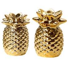 Статуэтка ананаса из золотой керамики искусственная фотография