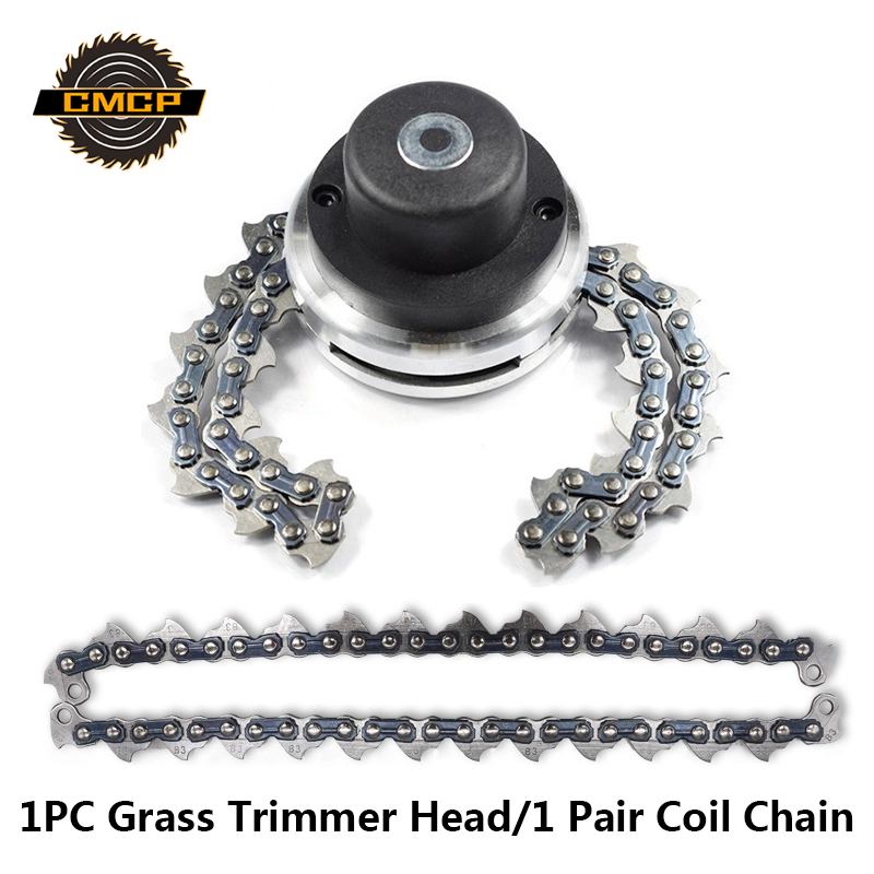 1 Pair Grass Trimmer Head Chain Brush Cutter Blade Lown Mower Spare Parts Coil Chain Garden Grass Cutter