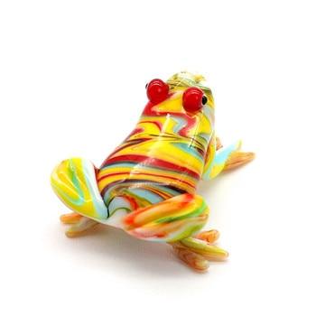 צבעוני חמוד זכוכית צפרדע צלמיות בעבודת יד חיות אסיפה מתנות לילדים בית תפאורה מוראנו סגנון קטן פיסול קישוטים