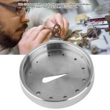 Portable 30106 acier montre Balance Hairspring tenant outil de réglage avec trous montre réparation accessoire outil pour horloger