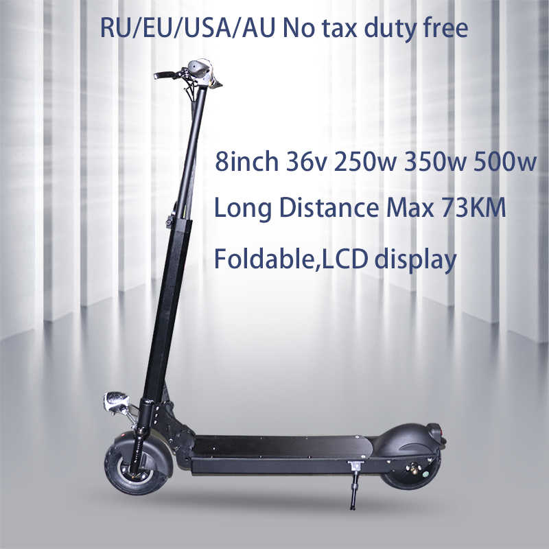 No tax 250w/350w/500w Electric Scooter Adult Folding Speed Electric Scooter 3 Speed Modes 8 Inche IP54 75KM E Scooter Skateboard