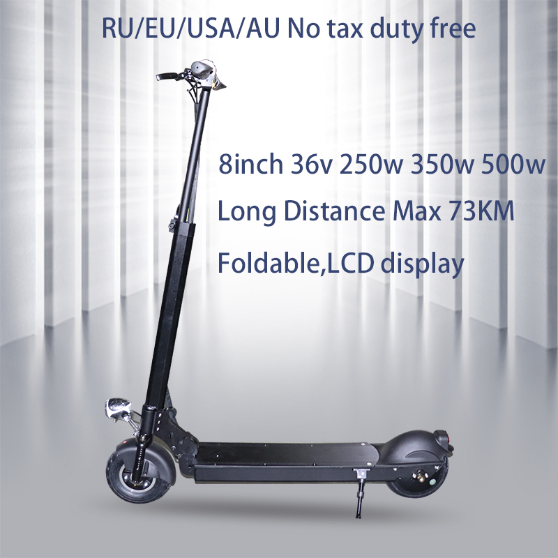 No tax <font><b>250w</b></font>/350w/500w <font><b>Electric</b></font> <font><b>Scooter</b></font> Adult Folding Speed <font><b>Electric</b></font> <font><b>Scooter</b></font> 3 Speed Modes 8 Inche IP54 75KM E <font><b>Scooter</b></font> Skateboard image