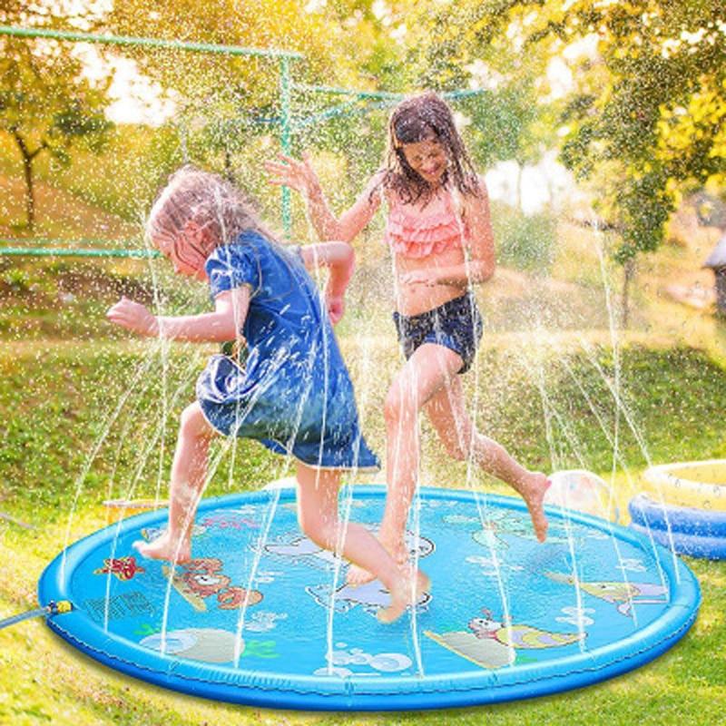 170CM Baby Toys Water Mat Children's mat Summer Beach Inflatable Spray Water Cushion Outdoor Lawn Baby Play Mat Games Playmat