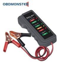 OBDMONSTER 12 V Xe Kiểm Tra Pin Xe Xoay Chiều Thử Nghiệm 12 Volt Kiểm Tra Pin Công Cụ Chẩn Đoán Cho Ô Tô Và Xe Máy
